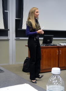 OU alumna and former Sales Certificate Candidate, Katie represents corporate partners EMC while giving current certificate candidates career advice.